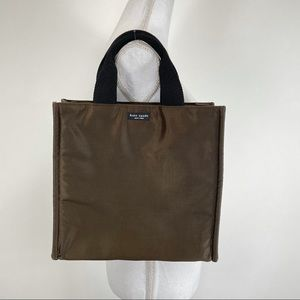 Kate Spade Square Tote Bronze with Black Handles